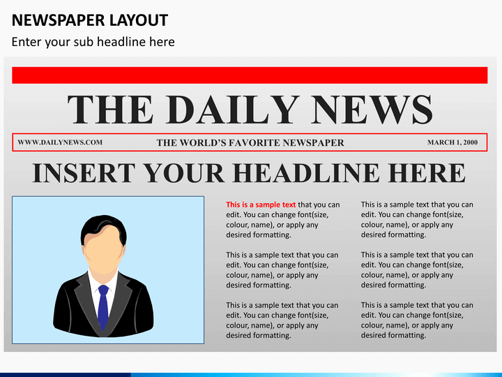 Newspaper Template for Ppt Unique Newspaper Layout Powerpoint
