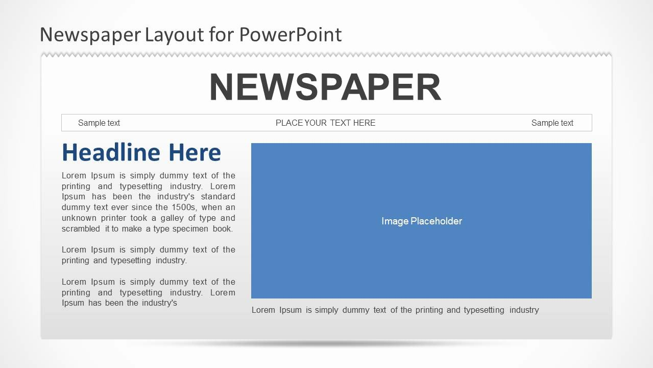 Newspaper Template for Ppt Unique Newspaper Powerpoint Template Slidemodel