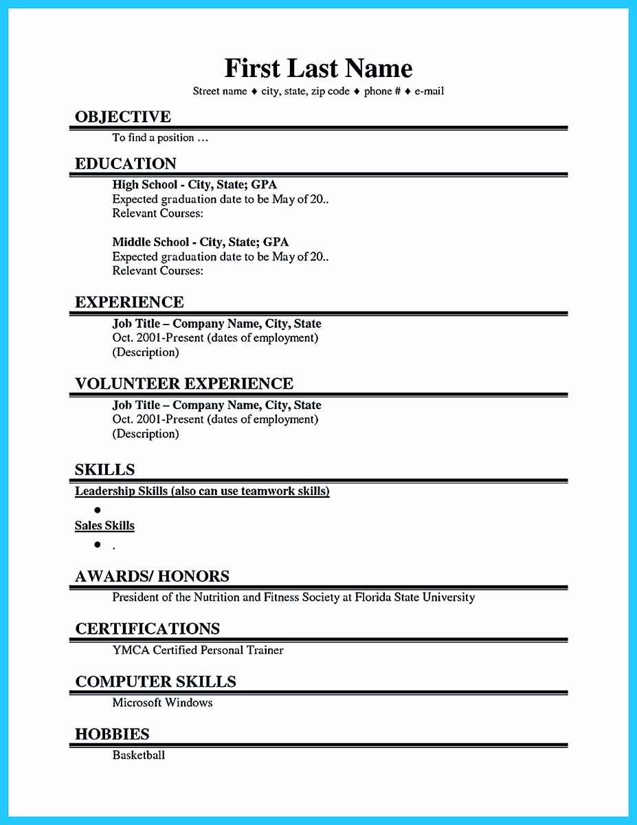 No Experience Resume Template Beautiful Cool Best Current College Student Resume with No