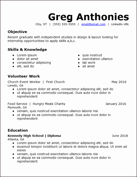 No Experience Resume Template Best Of top 3 Resumes for Students with No Work Experience