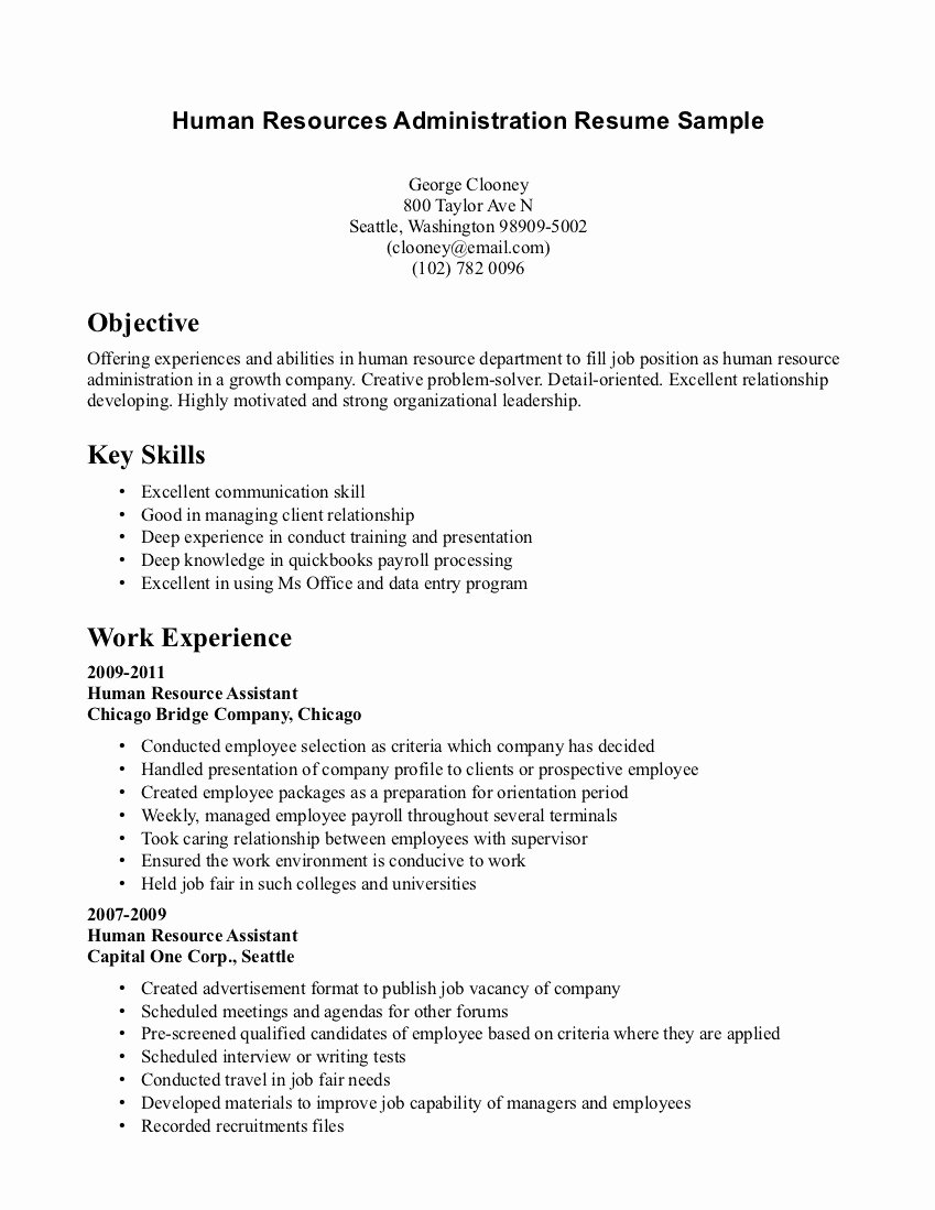No Experience Resume Template Unique Resume for Management Position with No Experience