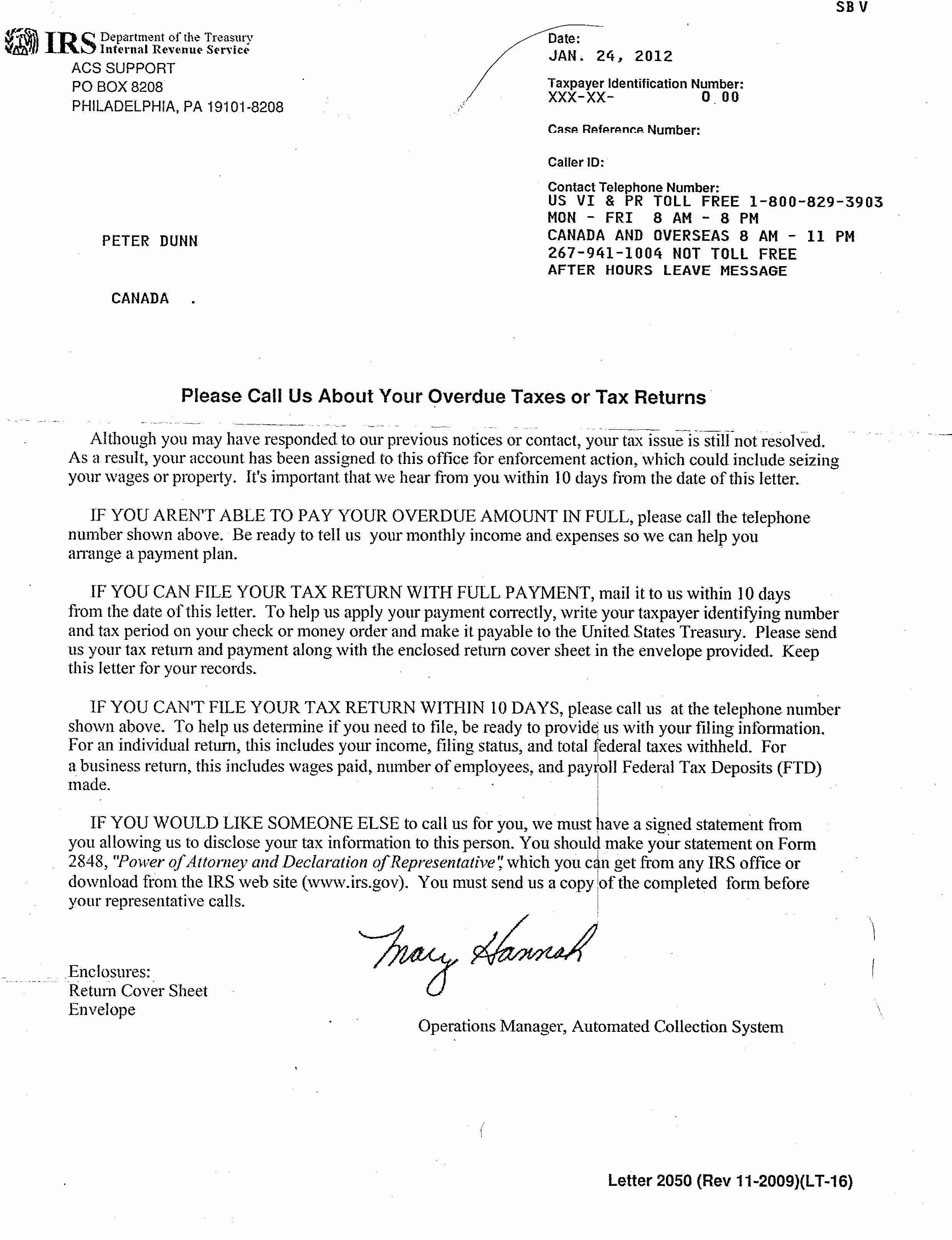 No Refunds Policy Template Lovely Letter From the Irs