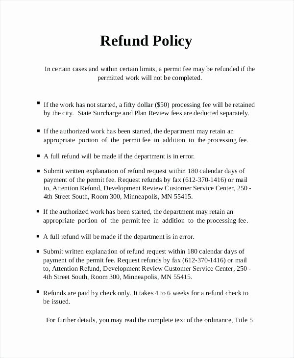 No Refunds Policy Template Lovely Refund Letter Template Policy No Return and Uk