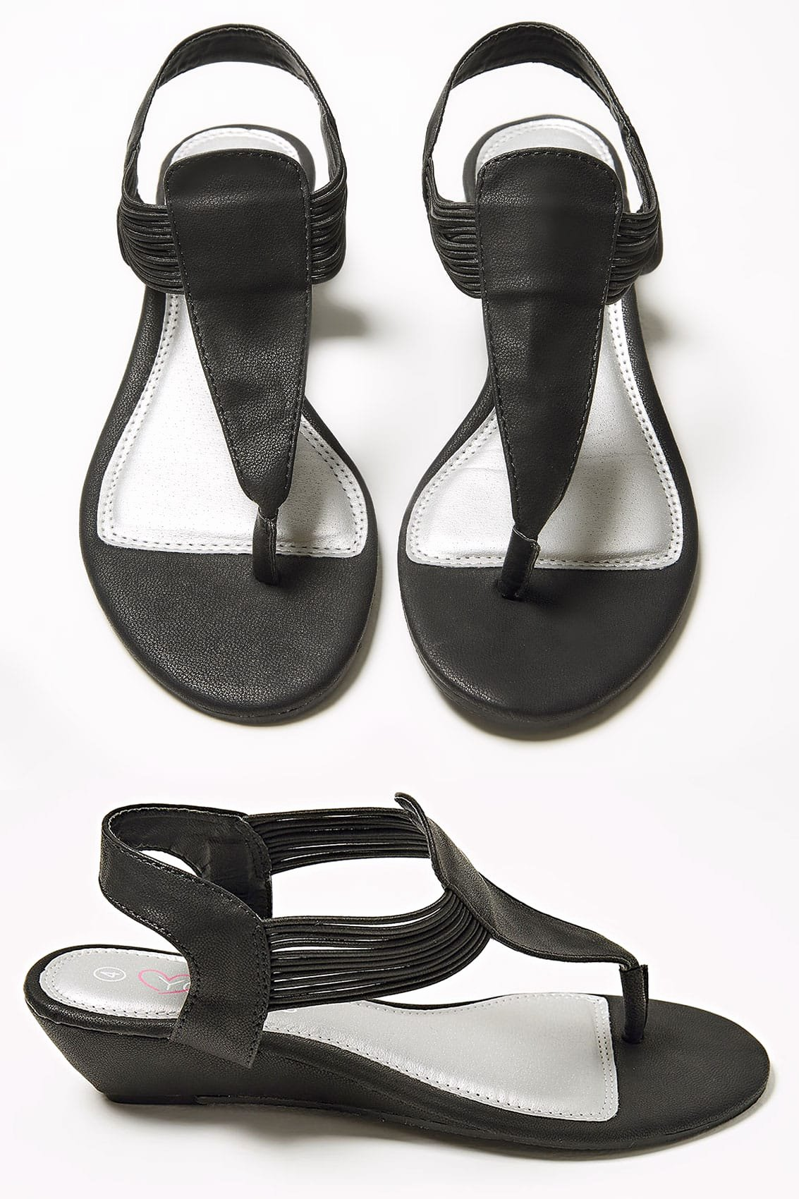 No Refunds Policy Template Luxury Black toe Post Wedge Sandal In Eee Fit