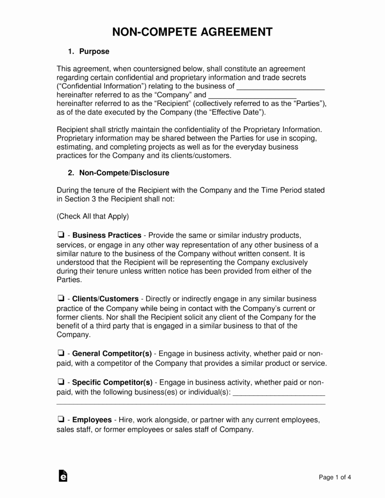 Non Compete Agreement Template Free Awesome Non Pete Agreement Templates