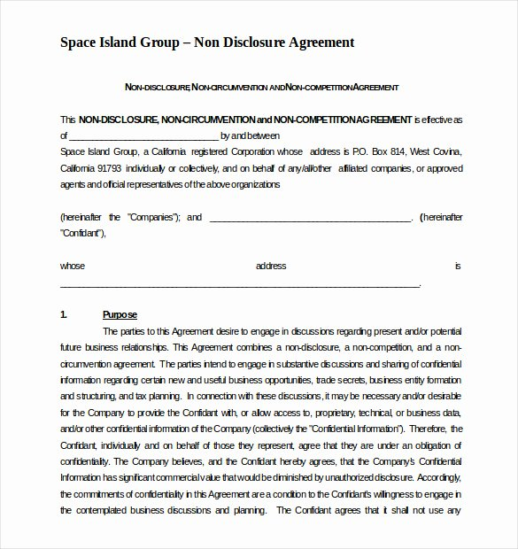 Non Compete Agreement Template Free Elegant 13 Non Pete Agreement Templates Docs Pdf Word