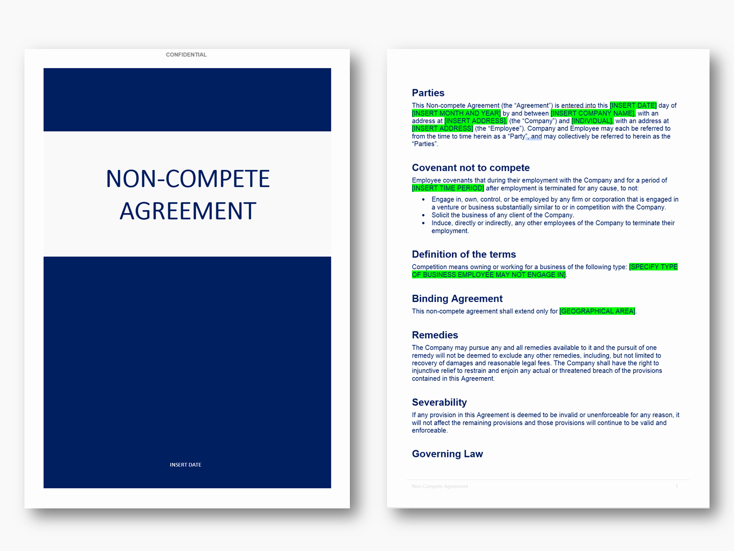 Non Compete Agreement Template Word Fresh Non Pete Agreement Template In Word