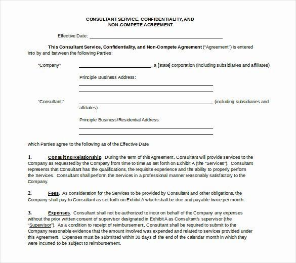 Non Compete Agreement Template Word Unique 13 Word Non Pete Agreement Templates Free Download