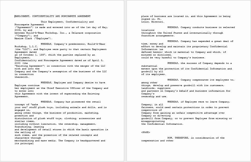 Non Compete Agreement Template Word Unique 37 Free Non Pete Agreement Templates Ms Word