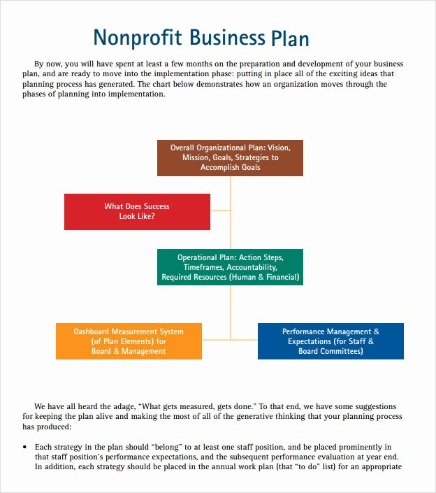 Non Profit Business Plan Template Unique Non Profit Business Plan Template 13 Download Documents