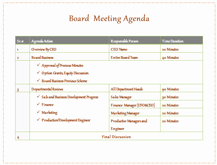 Nonprofit Board Meeting Agenda Template Beautiful Board Meeting Agenda Template Easy Agendas