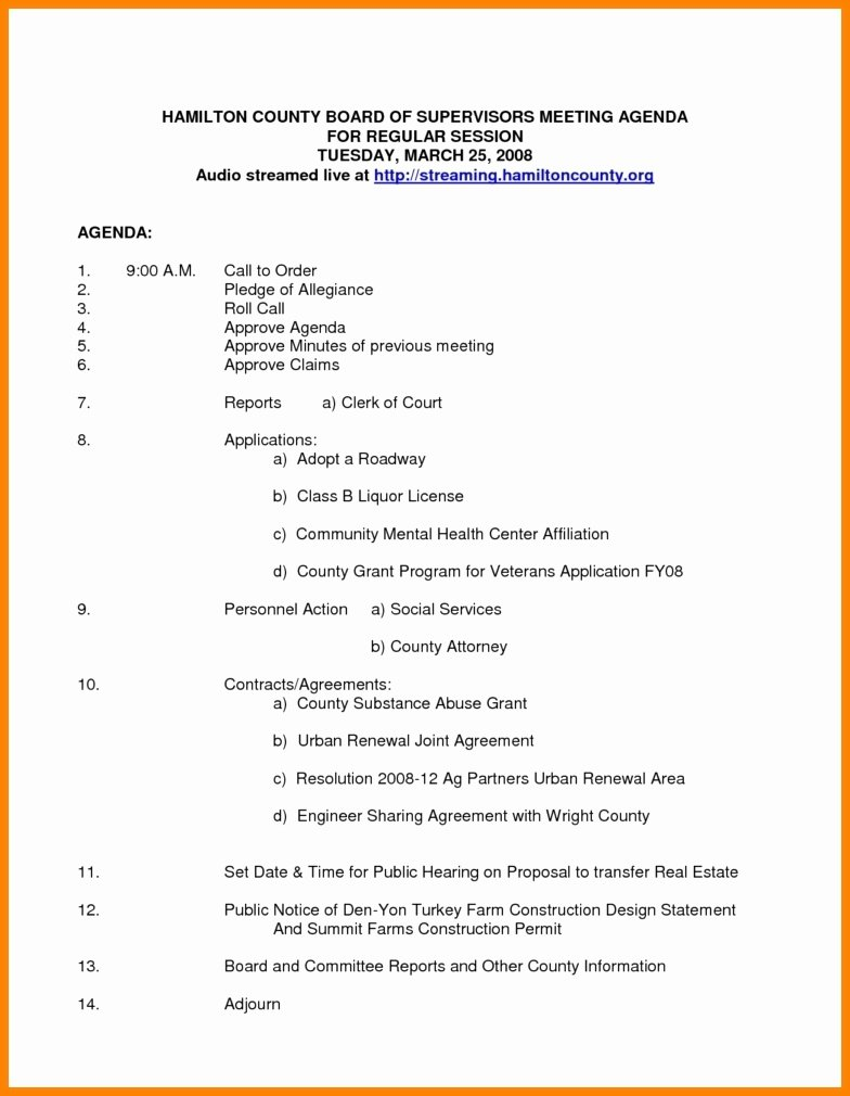 Nonprofit Board Meeting Agenda Template Lovely Nonprofit Board Meeting Agenda Template 2018