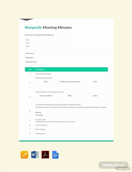 Nonprofit Board Meeting Agenda Template Unique Free Non Profit Board Meeting Agenda Template Download 88