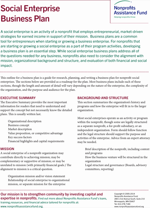 Nonprofit Business Plan Template Pdf Awesome Download Non Profit Business Plan Template for Free