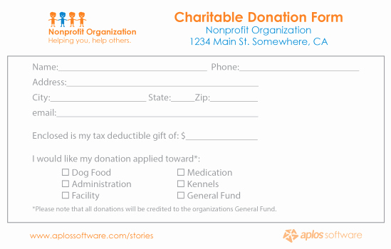 Nonprofit Donation Receipt Template Awesome 36 Free Donation form Templates In Word Excel Pdf