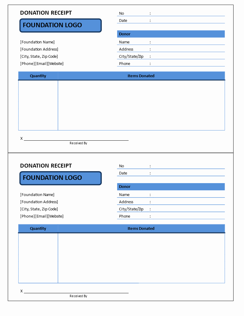 Nonprofit Donation Receipt Template Awesome Non Profit Donation Receipt Template