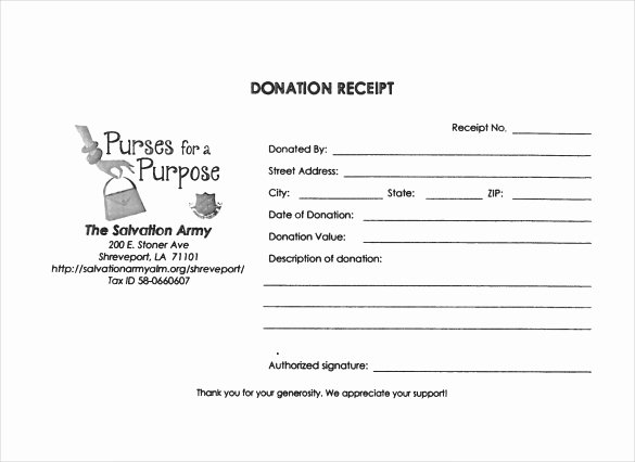 Nonprofit Donation Receipt Template Inspirational Free 20 Donation Receipt Templates In Pdf