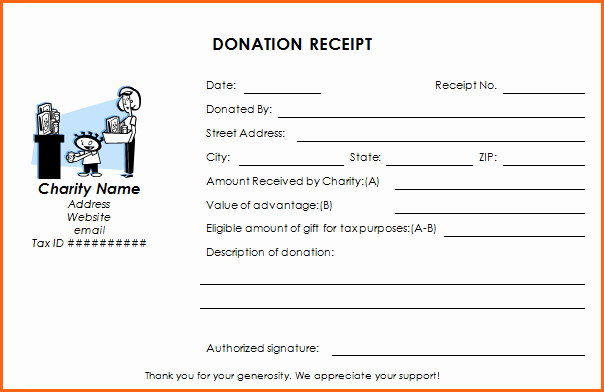 Nonprofit Donation Receipt Template Lovely Donation Receipt Templates Professional Realm