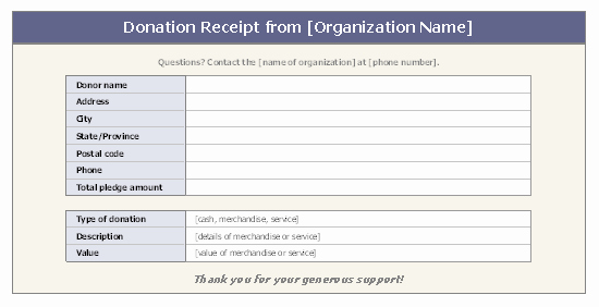 Nonprofit Donation Receipt Template New Donation Receipt