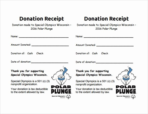 Nonprofit Donation Receipt Template Unique 9 Donation Receipt Templates Free Samples Examples format