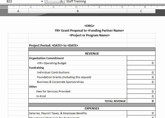 Nonprofit Operating Budget Template Fresh Program Bud Template – Upward Development