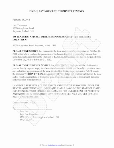 Notice Of Eviction Template Fresh Eviction Notice Template