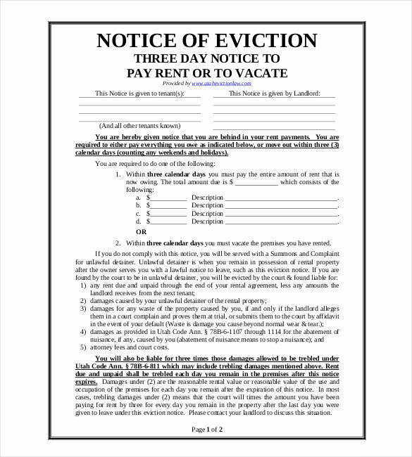 Notice Of Eviction Template Unique 38 Eviction Notice Templates Pdf Google Docs Ms Word