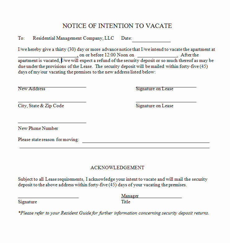 Notice to Vacate Template Best Of 47 Eviction Notice Templates & Sample Letters Free