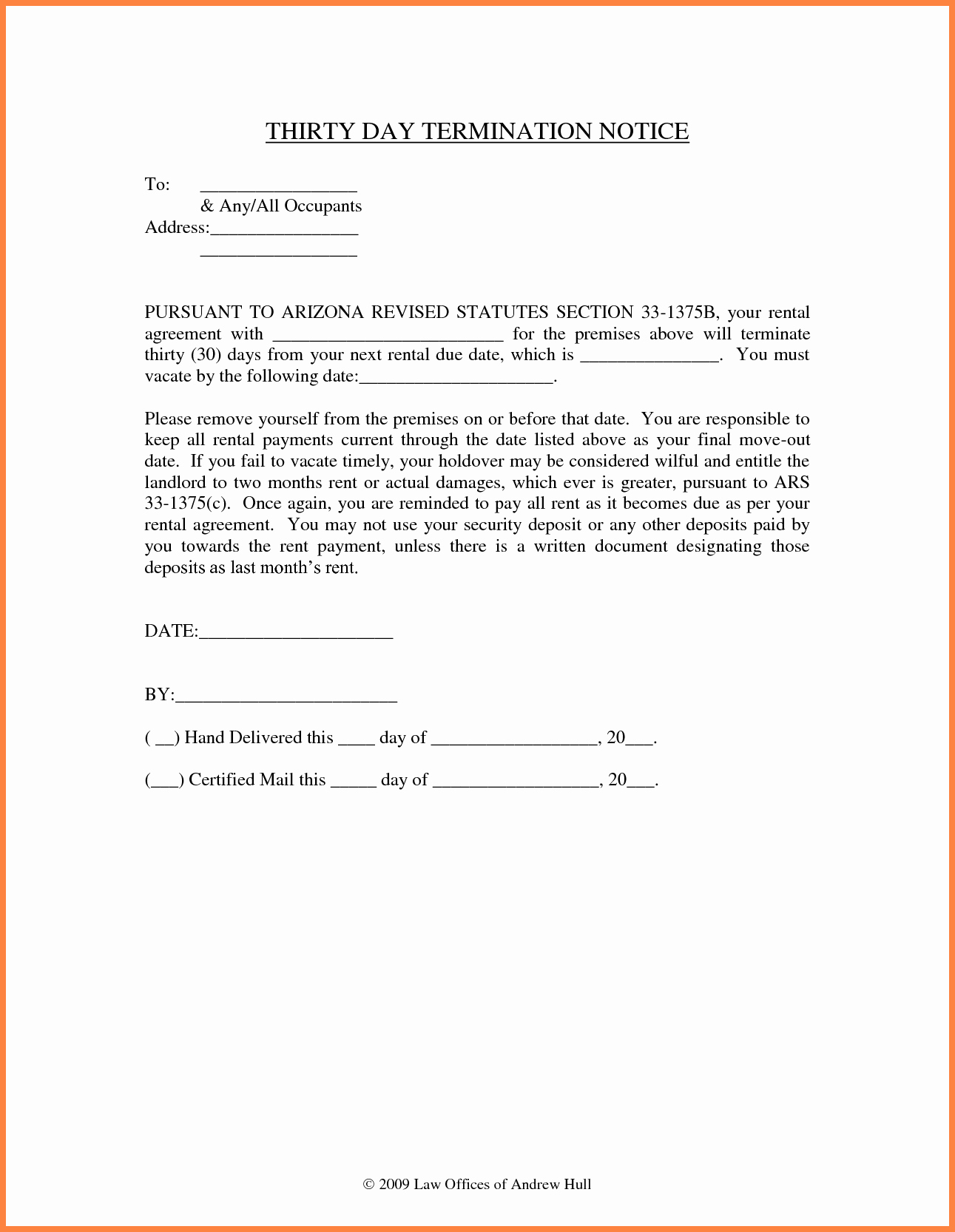 Notice to Vacate Template New 10 Example Of 30 Day Notice to Tenant