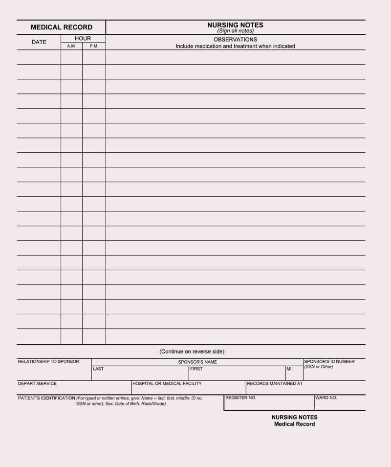 Nursing Progress Notes Template Beautiful 12 Free Nursing Notes Templates Guidelines to Take