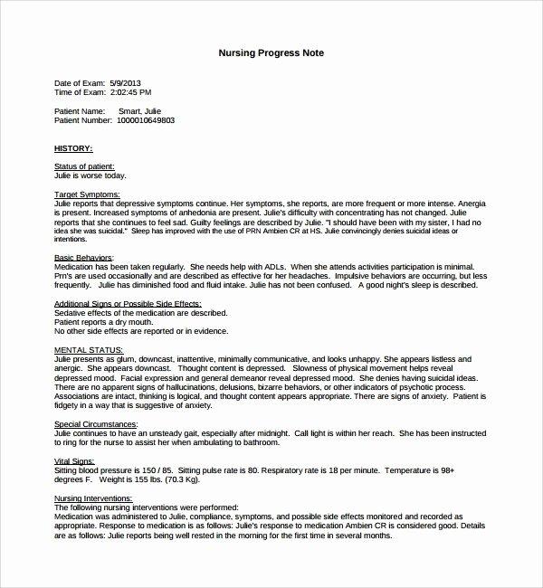 Nursing Progress Notes Template Beautiful Nurses Notes Template Free Download