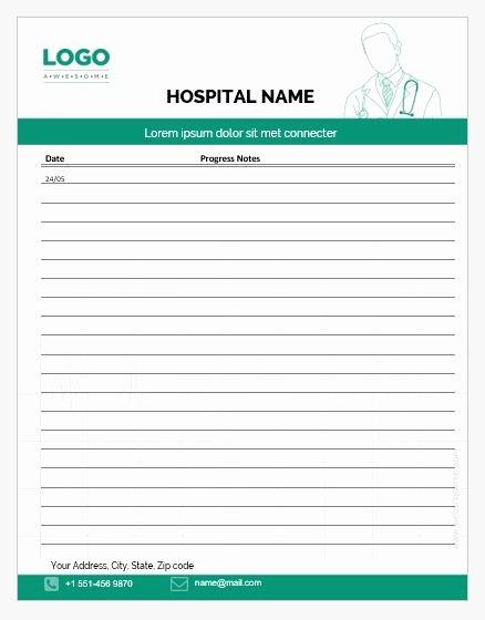Nursing Progress Notes Template New 5 Nursing Progress Notes Templates for Ms Word