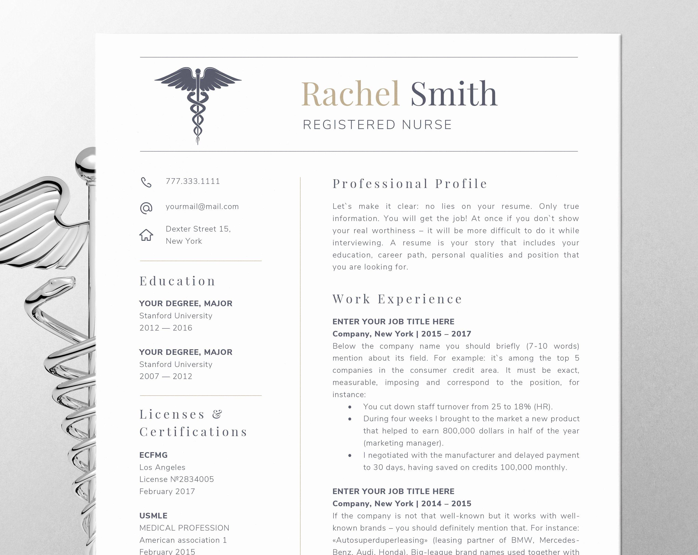 Nursing Resume Template Word Best Of Nursing Resume Template for Word Nurse Cv Template Rn