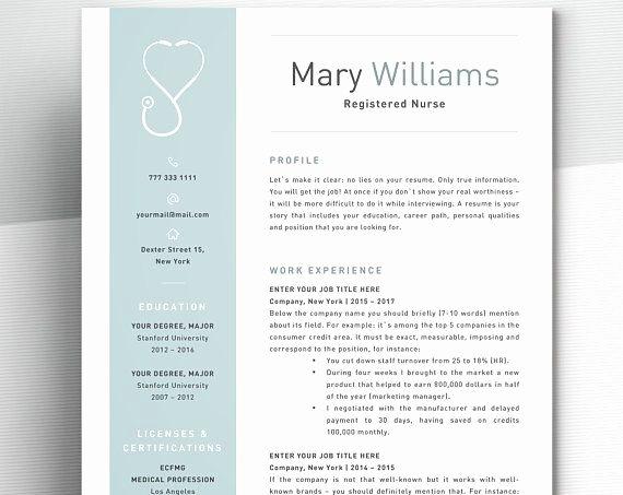 Nursing Resume Template Word Elegant Nurse Resume Template for Word