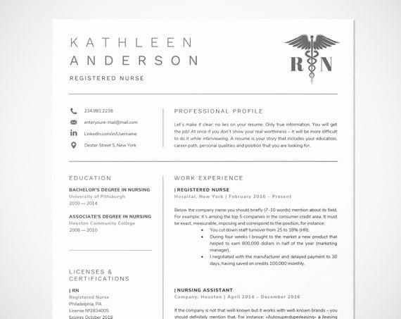 Nursing Resume Template Word Elegant Registered Nurse Resume Template for Word Nursing Resume
