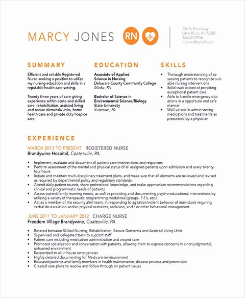 Nursing Resume Template Word Lovely Bring Your Nurse Resume to the Yes Pile