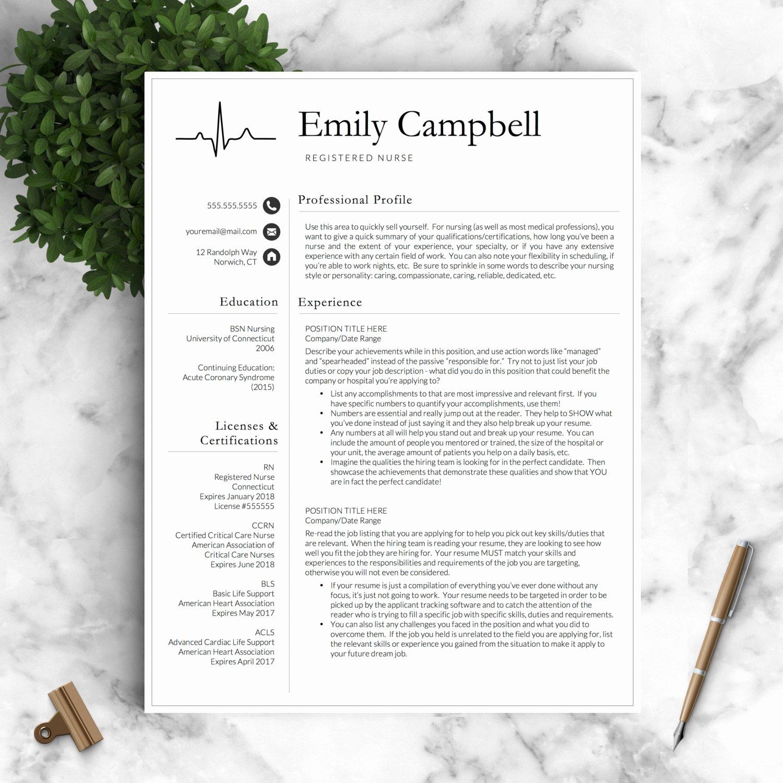Nursing Resume Template Word Lovely Nurse Resume Template for Word & Pages Medical Resume Nurse