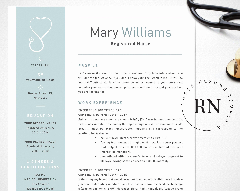 Nursing Resume Template Word Lovely Nurse Resume Template for Word Medical Resume Word Nurse