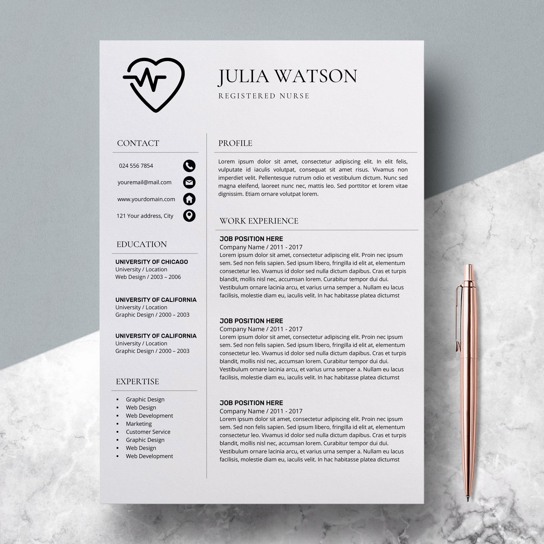 Nursing Resume Template Word Lovely Professional Resume Template Nurse Cv Template Word