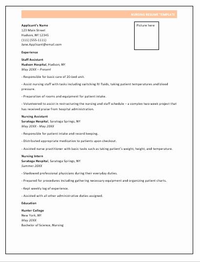 Nursing Resume Template Word Luxury Nursing Resume format