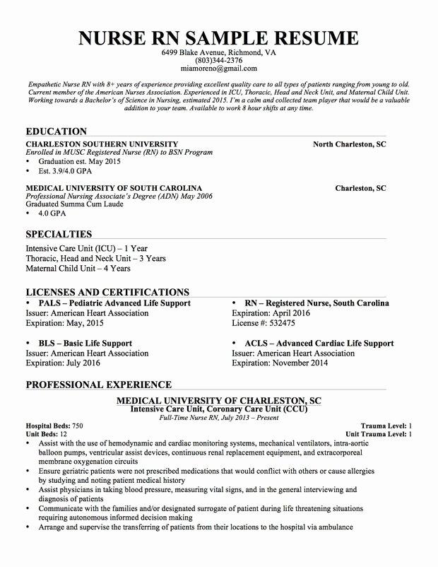 Nursing Resume Template Word New Experienced Nursing Resume Nerdy Nurse Stuff