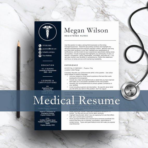 Nursing Resume Template Word Unique Nurse Resume Template for Word & Pages 1 and 2 Page Resume