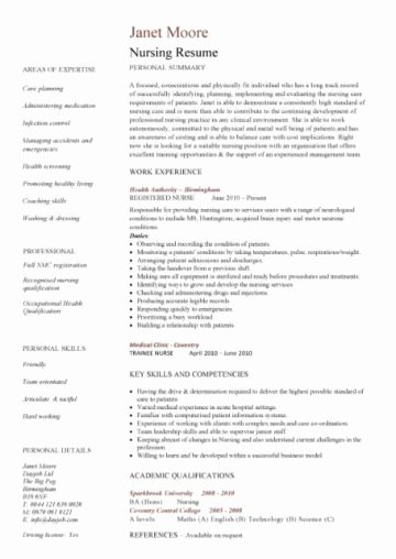 Nursing Resume Template Word Unique Nursing Cv Template Nurse Resume Examples Sample