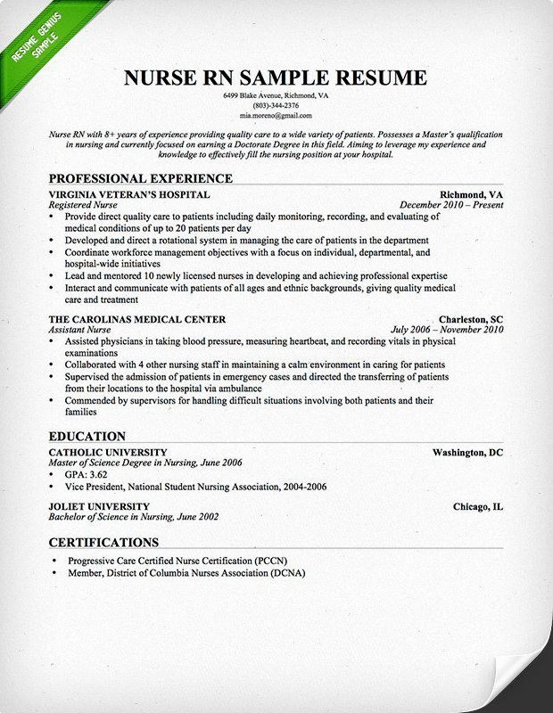 Nursing Student Resume Template Awesome Nursing Resume Sample & Writing Guide