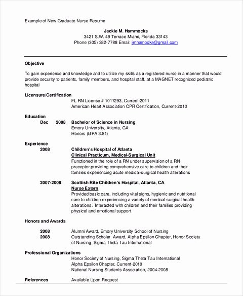 Nursing Student Resume Template Awesome Nursing Student Resume Samples and Tips