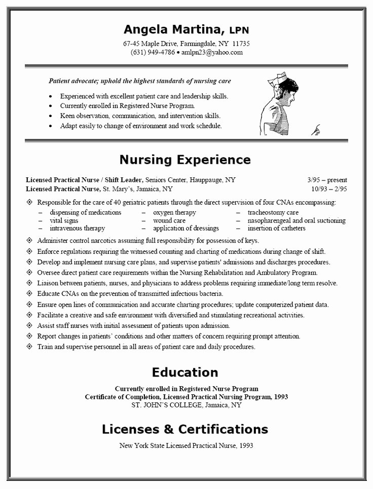Nursing Student Resume Template Beautiful 17 Best Images About Nursing Resumes On Pinterest