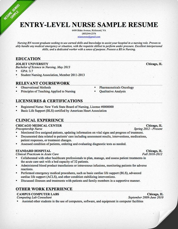 Nursing Student Resume Template Elegant Entry Level Nurse Resume Sample