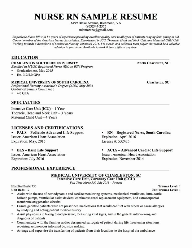 Nursing Student Resume Template Fresh Experienced Nursing Resume Nerdy Nurse Stuff