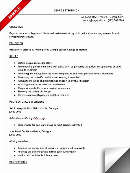 Nursing Student Resume Template New Nursing Student Resume Sample Limeresumes
