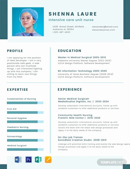 Nursing Student Resume Template Word Awesome Free Nursing Student Cv Template Word Psd
